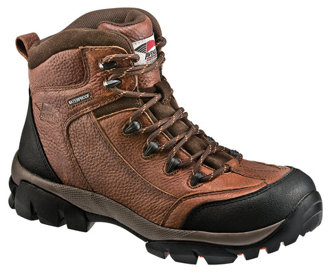 Avenger Mens Soft Toe EH Waterproof Hiker M Brown Leather Boots