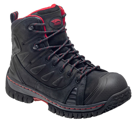 Avenger Mens Steel Toe EH WP W Black Leather Boots