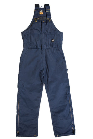 Berne Mens Navy Cotton Blend Deluxe Insulated Bib Overall