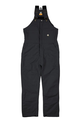 Berne Mens Black 100% Cotton Deluxe Insulated Bib Overall