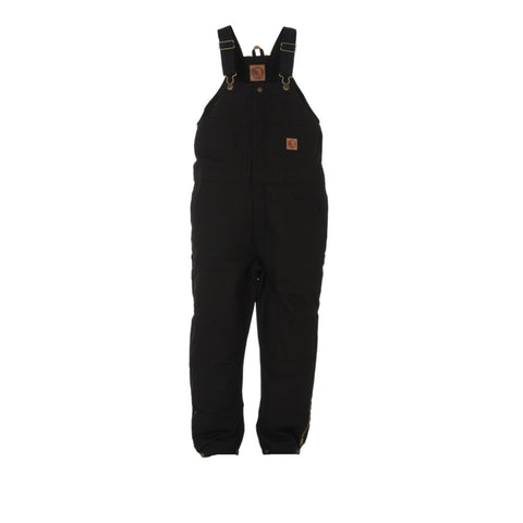 Berne Black 100% Cotton Youth Insulated Bib Overall
