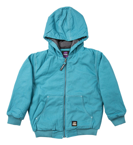 Berne Baltic Blue 100% Cotton Youth Hooded Jacket