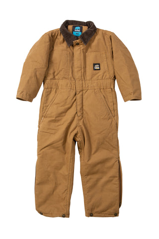 Berne Brown Duck 100% Cotton Youth Insulated Coverall