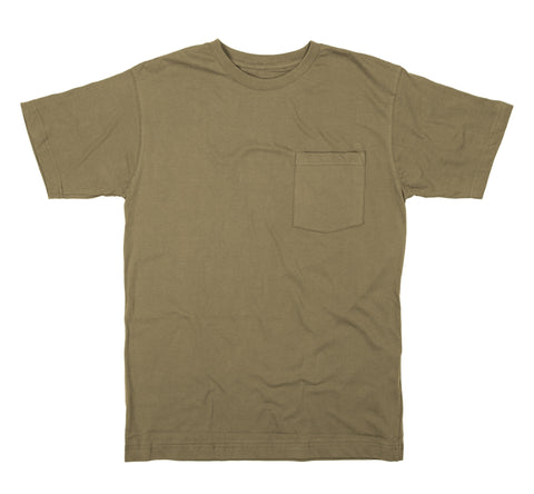 Berne Mens Desert 100% Cotton Heavyweight Pocket Tee S/S