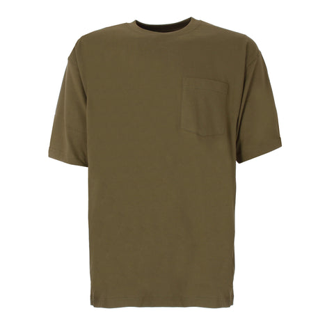 Berne Mens Light Olive 100% Cotton Heavyweight Pocket Tee S/S