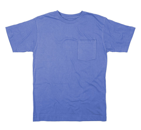 Berne Mens Royal Blue 100% Cotton Heavyweight Pocket Tee S/S