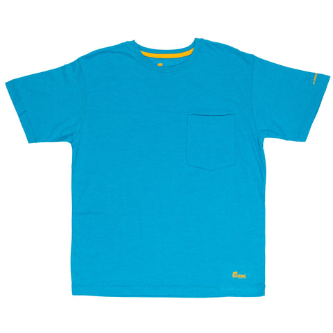 Berne Mens Bahama Blue Cotton Blend Light Performance Tee S/S