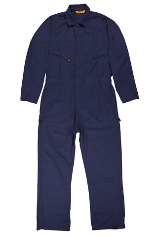 Berne Mens Navy 100% Cotton Deluxe Unlined Coverall