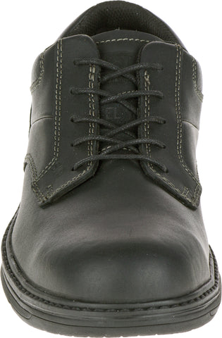 CAT Mens Oversee Esd St Black Leather Oxford Shoes