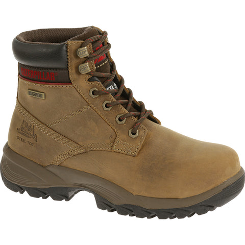 CAT Womens Dryverse 6In Wp St Dark Beige Leather Work Boots