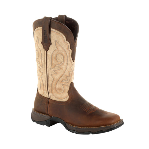 Durango Womens Bark/Taupe Leather Lady Rebel Cowboy Boots