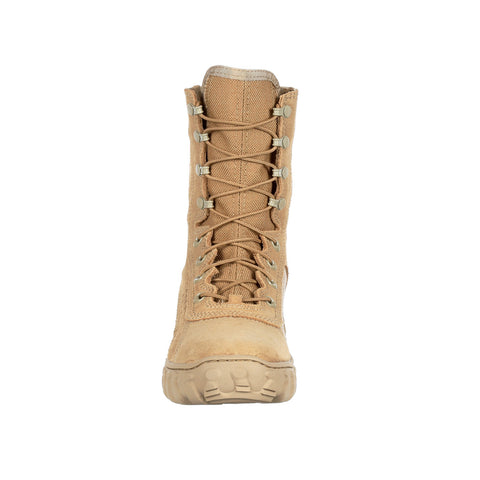 Rocky Mens Desert Tan Leather S2V Tactical Military Boots
