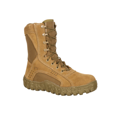 Rocky Mens Coyote Brown Leather S2V Tactical Military Boots