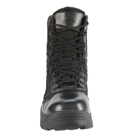 Rocky Mens Black Leather 1,000 Denier Fort Hood Waterproof Duty Boots