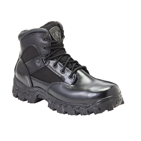 Rocky Womens Black Leather Alpha Force WP Public Service Work Boots