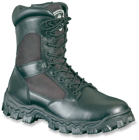 Rocky Womens Black Leather Alphaforce WP Duty Boots