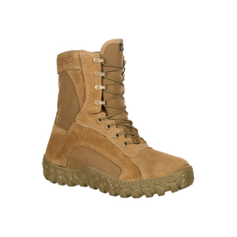 Rocky Mens Coyote Brown Leather S2V WP 400G Tactical Military Boots