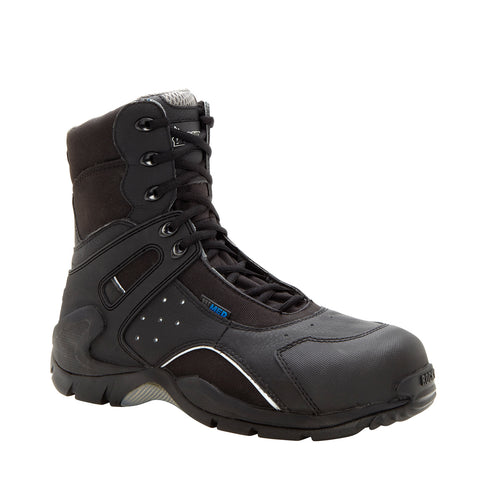 Rocky 1st Med Mens Black Leather Carbon Fiber Toe Zip WP EMT Boots