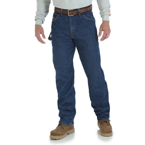 Wrangler Mens Blue 100% Cotton FR Carpenter Jeans