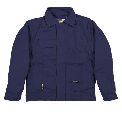 Berne Mens Navy Cotton Blend FR Bomber Jacket