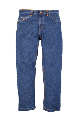 Berne Mens Stone Wash Dark 100% Cotton FR 5-Pocket Jean