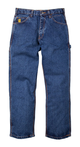 Berne Mens Stone Wash Dark 100% Cotton FR Carpenter Jean