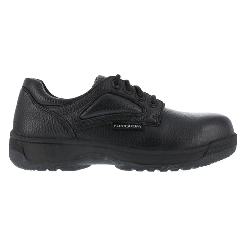 Florsheim Womens Black Leather Casual Oxford Fiesta Composite Toe