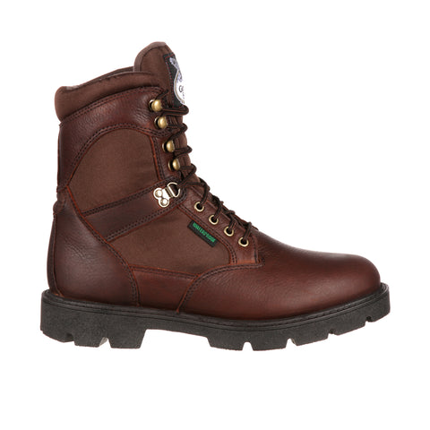 Georgia Homeland Mens Brown Leather Steel Toe WP Work Boots