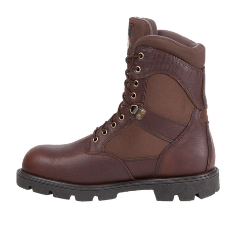 Georgia Homeland Mens Brown Leather Cordura Waterproof Work Boots