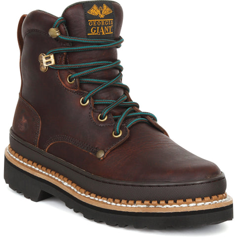 Georgia Giant Mens Brown Leather Lace Up Bumber Guard Work Boots