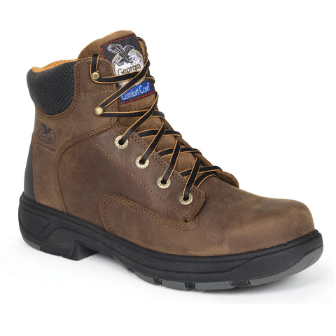 Georgia FlxPoint Mens Brown Leather Waterproof Comfort Work Boots