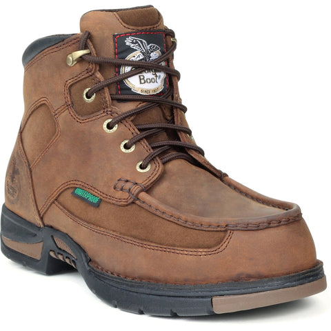 Georgia Athens Mens Brown Leather Waterproof Suede Work Boots