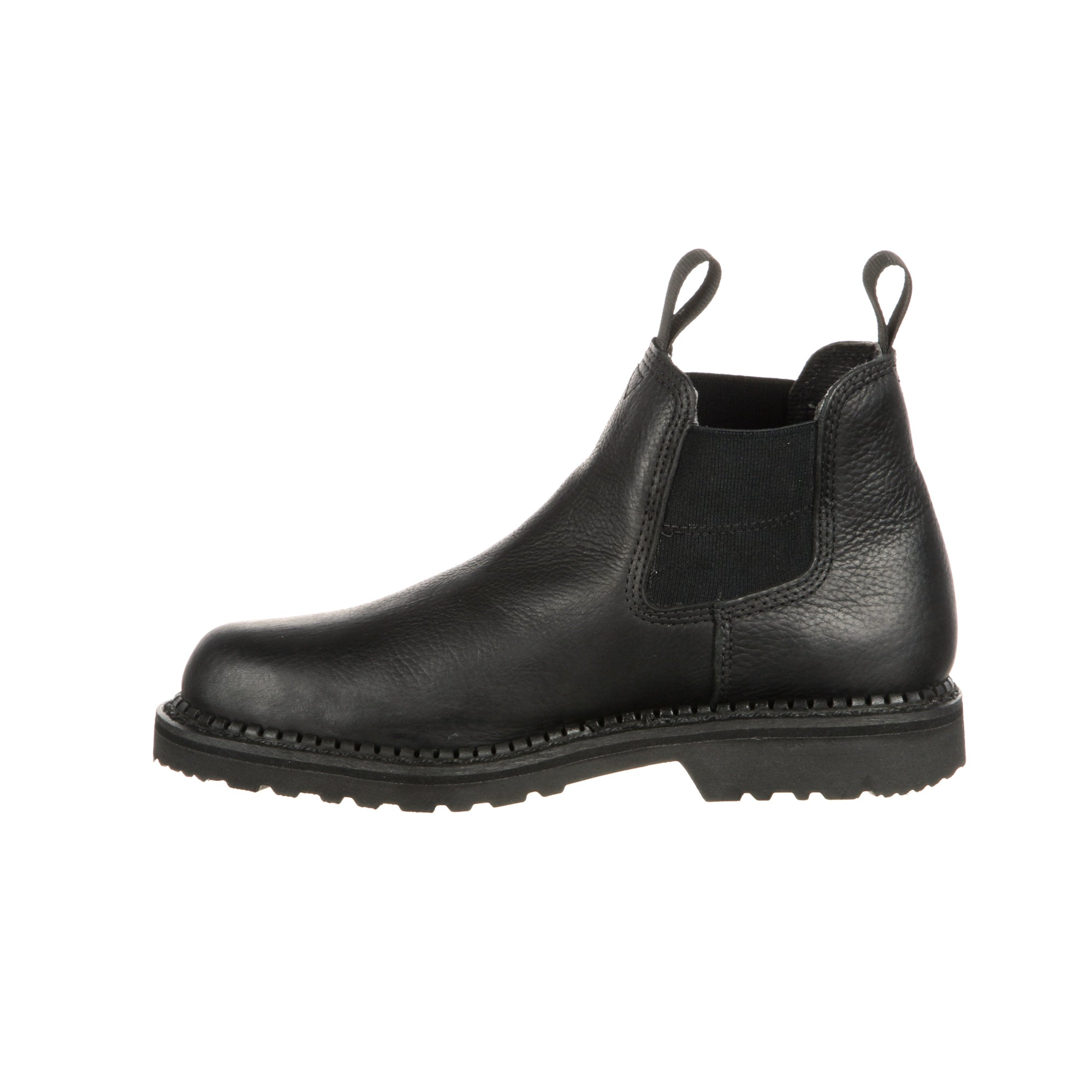 a44ab26ad1d Georgia Giant Mens Black Leather High Romeo Waterproof Work Boots ...