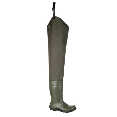 Georgia Mens Green Rubber/Nylon 40in WP Hip Wading Boots