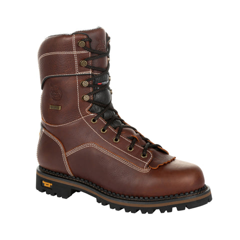 Georgia Mens Brown Leather 400g WP AMP Work Boots