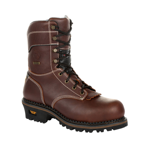 Georgia Mens Brown Leather 600g WP CT Work Boots