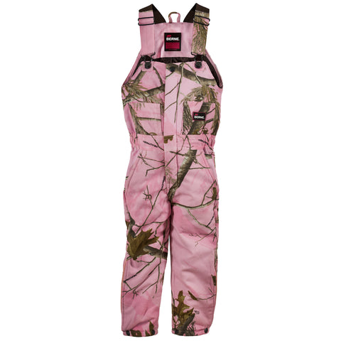 Berne Realtree Pink 100% Cotton Youth Bucksnort Overall