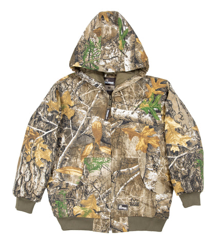 Berne Unisex Realtree Edge 100% Cotton Youth Spike Jacket