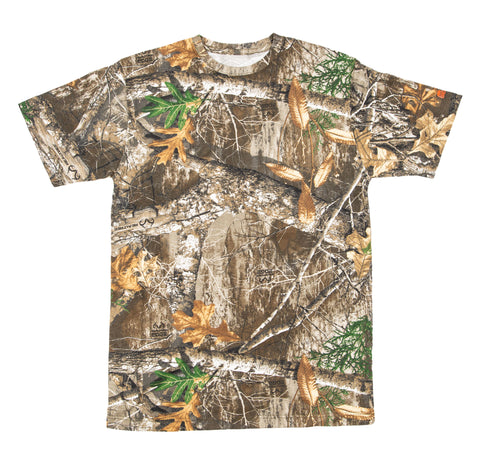 Berne Mens Realtree Edge 100% Cotton Shortshot Pocket Tee S/S