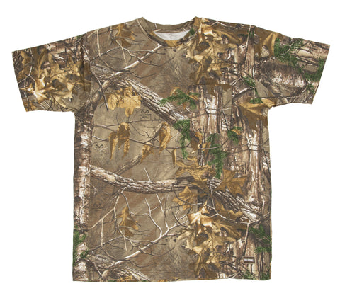 Berne Mens Realtree Xtra 100% Cotton Shortshot Pocket Tee S/S
