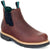 Georgia Mens Soggy Brown Leather WP High Romeo Ankle Boots