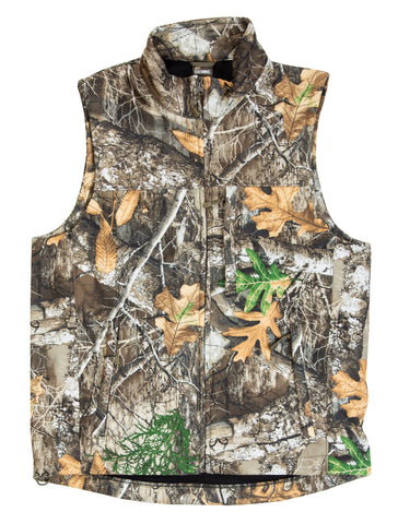 Berne Mens Realtree Edge Fleece Weekender Softshell Vest