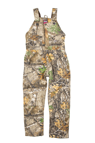 Berne Ladies Realtree Edge 100% Cotton Ladies Snow Field Bib Overall