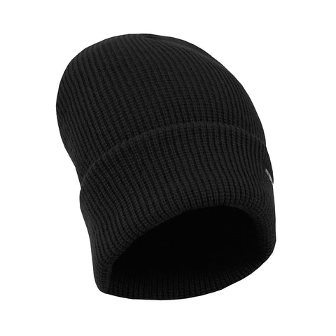 Berne Mens Black Acrylic Lined Knit Cuff Cap