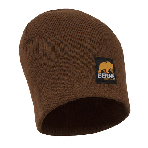 Berne Mens Brown Duck Acrylic Knit Beanie