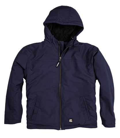 Berne Mens Navy 100% Cotton Washed Arctic Hooded Jacket