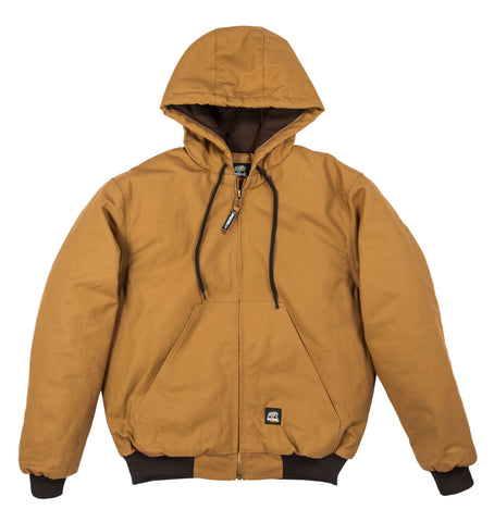 Berne Mens Brown Duck 100% Cotton Hooded Jacket