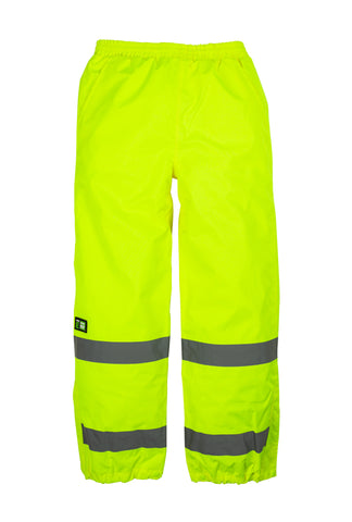 Berne Mens Yellow Polyester Hi-Visibility Waterproof Safety Pant