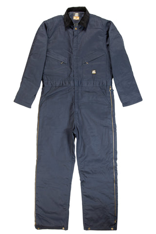 Berne Mens Navy Cotton Blend Deluxe Insulated Coverall