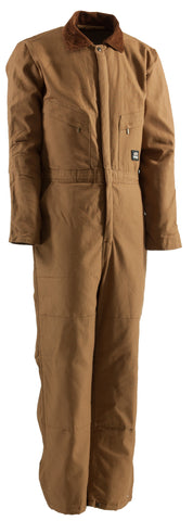 Berne Mens Brown Duck 100% Cotton Deluxe Insulated Coverall